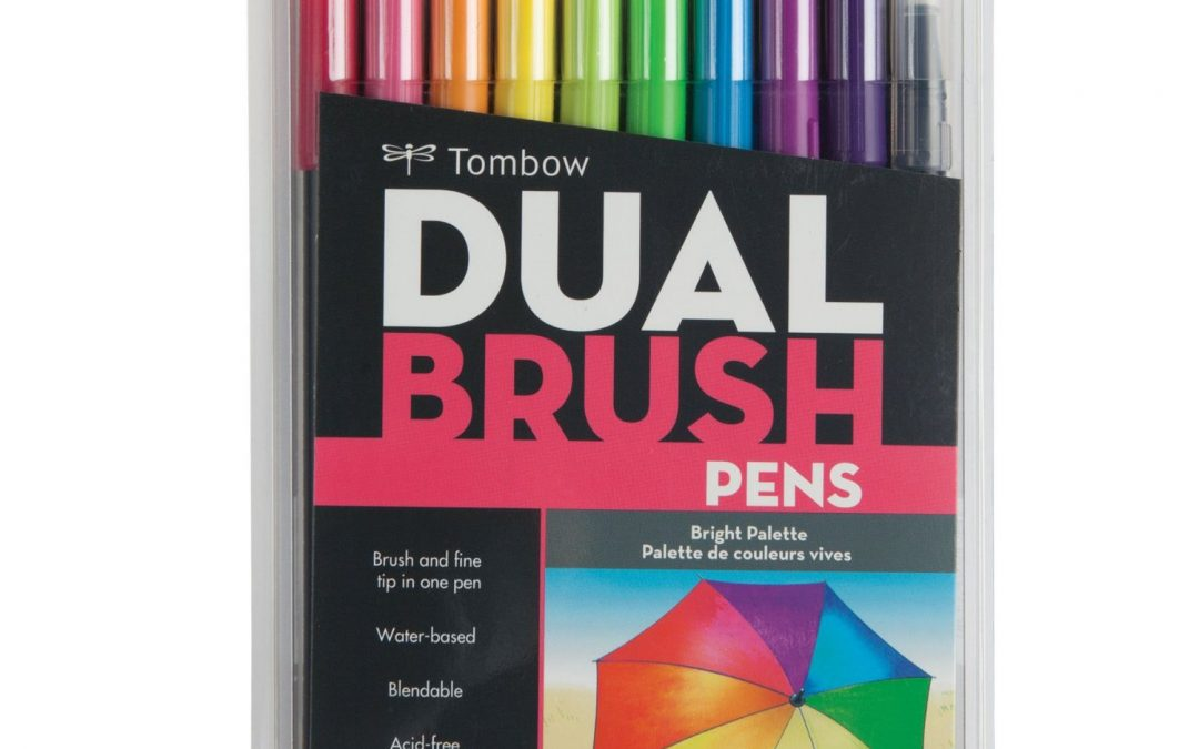 7. Tombow Dual Brush Pen Art Markers, Bright, 10-Pack